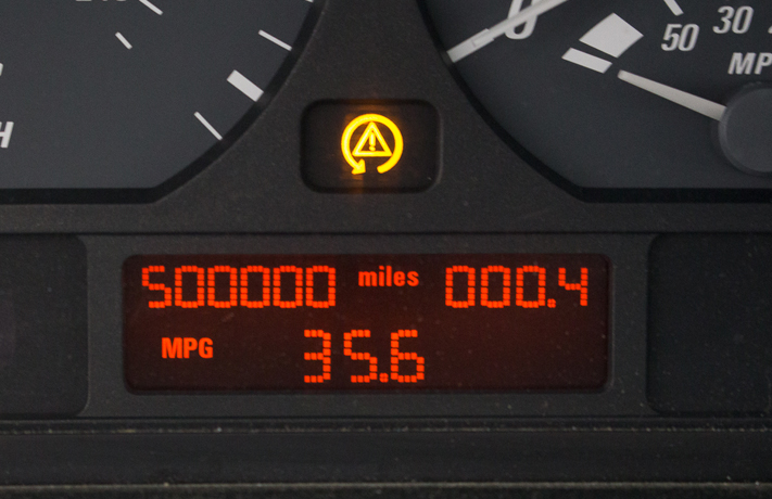 500000-mile BMW dash